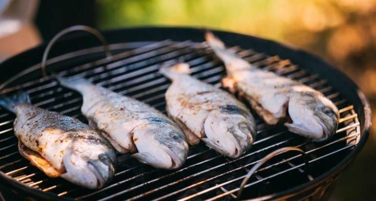 Pesce e verdure alla piastra
